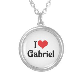 I Liebe Gabriel Versilberte Kette