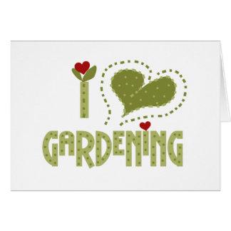 I Liebe-Gartenarbeit Karte