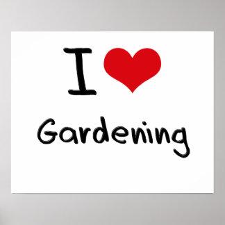 I Liebe-Gartenarbeit Posterdruck