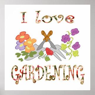 I Liebe-Gartenarbeit Poster