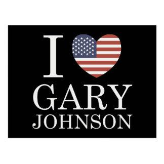 I Liebe Gary Johnson Postkarte