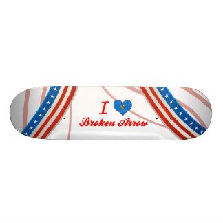I Liebe gebrochener Pfeil Oklahoma Individuelles Skateboard