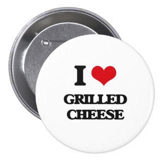 I Liebe gegrillter Käse Anstecknadel