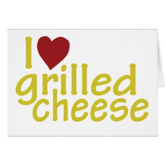 I Liebe gegrillter Käse Karte