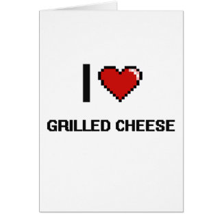 I Liebe gegrillter Käse Grußkarte