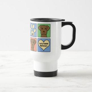 I Liebe-Gelockt-Überzogene Retriever Kaffee Tassen