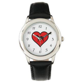 I Liebe-gelocktes überzogenes Uhr