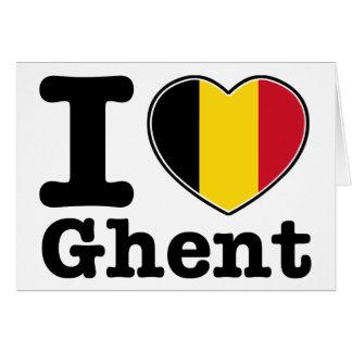 I Liebe Gent Karte