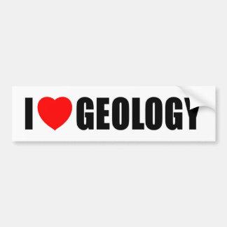 I Liebe-Geologie Autoaufkleber