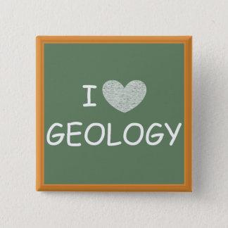 I Liebe-Geologie Quadratischer Button 5,1 Cm