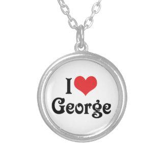 I Liebe George Versilberte Kette