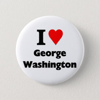 I Liebe George Washington Runder Button 5,1 Cm