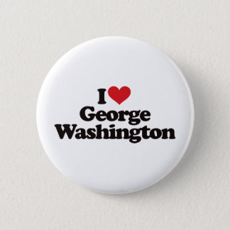 I Liebe George Washington Runder Button 5,7 Cm