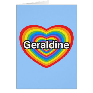 I Liebe Geraldine. Liebe I Sie Geraldine. Herz Karte