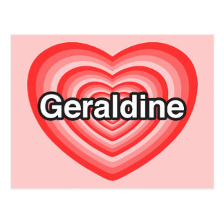 I Liebe Geraldine. Liebe I Sie Geraldine. Herz Postkarte
