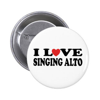 I Liebe-Gesang-Alt-Musik-Geschenk Runder Button 5,7 Cm