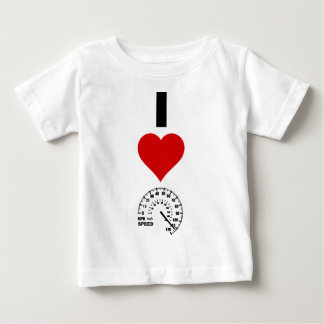 I Liebe-Geschwindigkeit (vertikal) Baby T-shirt