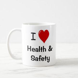 I Liebe-Gesundheit und Sicherheit - doppelseitig Kaffeetasse