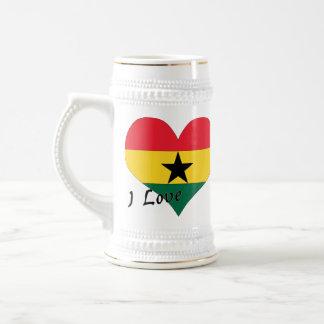 I Liebe Ghana Bierglas