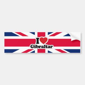 I Liebe-Gibraltar-Autoaufkleber Autoaufkleber