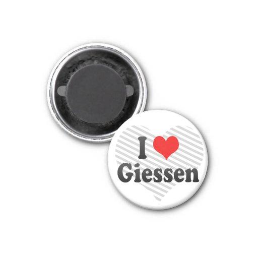 I Liebe Gießen, Deutschland Magnets