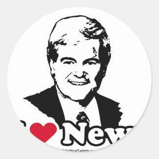 I Liebe Gingrich Runder Aufkleber
