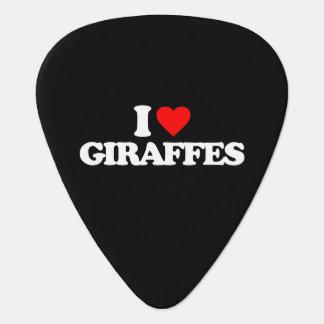 I LIEBE-GIRAFFEN PLEKTRON