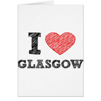 I Liebe Glasgow Karte