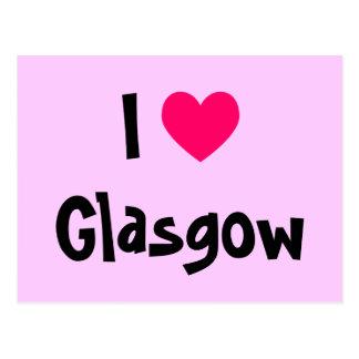I Liebe Glasgow Postkarte