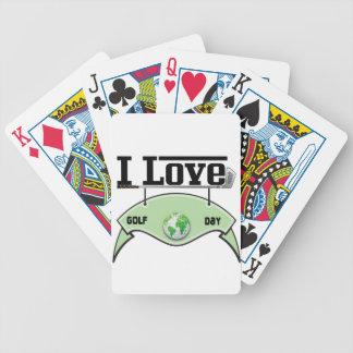 I Liebe Glof Tag Bicycle Spielkarten