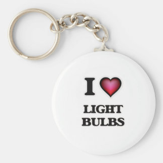 I Liebe-Glühlampen Schlüsselanhänger