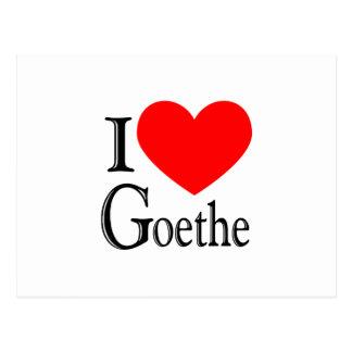 I Liebe Goethe Postkarte