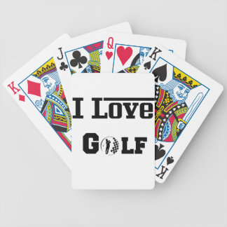I Liebe-Golf 2 Bicycle Spielkarten