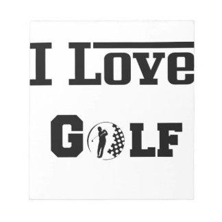 I Liebe-Golf 2 Notizblock
