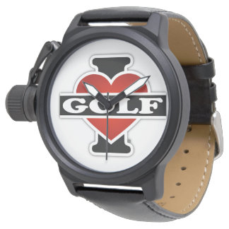 I Liebe-Golf Armbanduhr