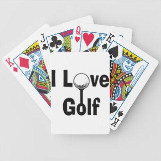 I Liebe-Golf Bicycle Spielkarten