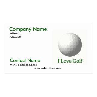 I Liebe-Golf-Geschäfts-Karte Visitenkartenvorlagen