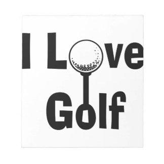 I Liebe-Golf Notizblock