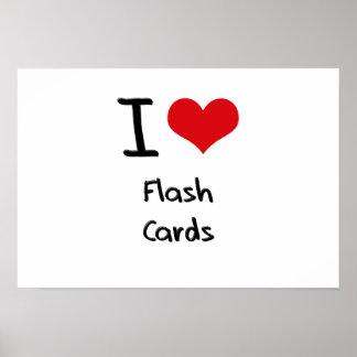 I Liebe-grelle Karten Plakatdrucke
