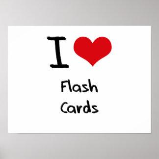 I Liebe-grelle Karten Plakate
