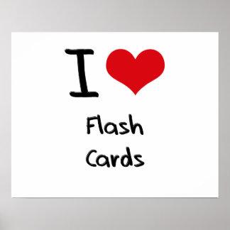 I Liebe-grelle Karten Plakat