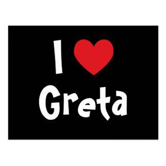 I Liebe Greta Postkarte