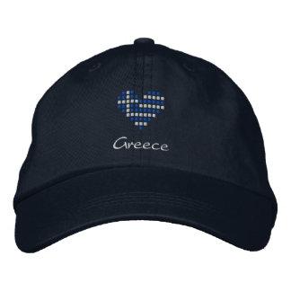 I Liebe-Griechenland-Kappe - griechischer Bestickte Baseballkappe