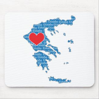 I Liebe-Griechenland-Karte Mousepads