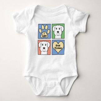I Liebe große Pyrenäen Baby Strampler