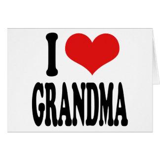 I Liebe-Großmutter Karte