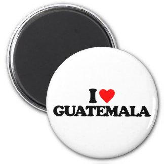 I LIEBE GUATEMALA RUNDER MAGNET 5,1 CM