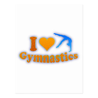 I Liebe-Gymnastik-orange Shirt-Taschen-Geschenke Postkarte