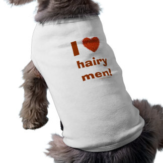 I Liebe-haarige Mann-lustige Hündchen-T-Stück Ärmelfreies Hunde-Shirt