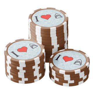 I Liebe-Haifische Pokerchips